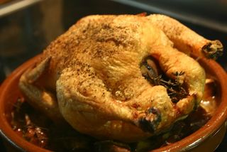 All done roast chicken