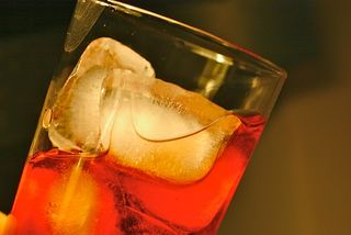 Negroni with lots of ice