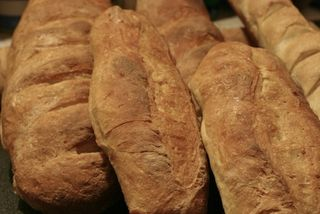 Loaves of fresh baked bread
