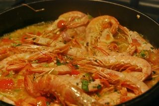 Shrimp in the pan