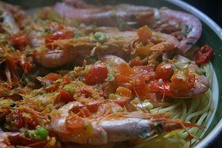 Shrimp and Bottarga Pasta