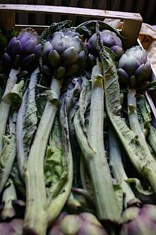 5 euros for a crate of artichokes