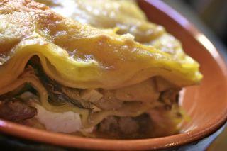 Salsiccia e Funghi Lasagne
