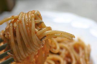 Fork full of pasta