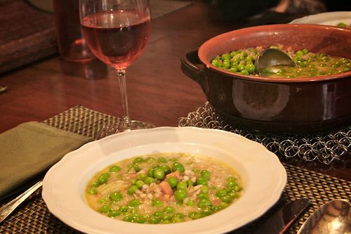Farro and Fresh Pea Soup (1)