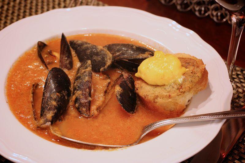 Mussel Soup with Lemon Saffron Aioli