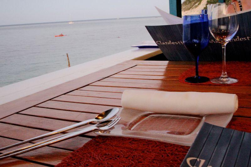Il Clandestino table setting