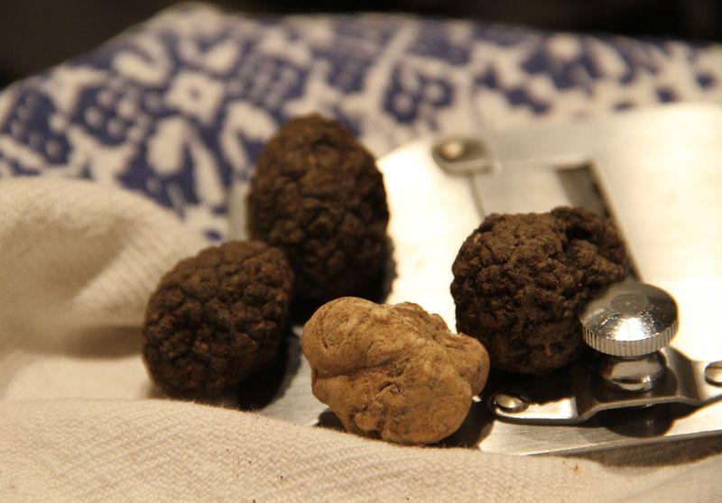 Black & white truffles