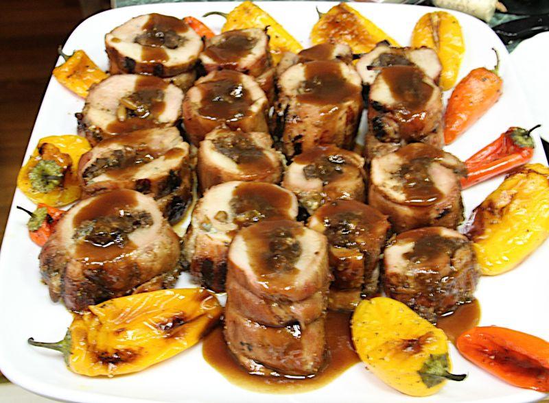 Stuffed pork tenderloing