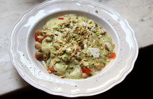 Cucumber & Pistacho Gazpacho