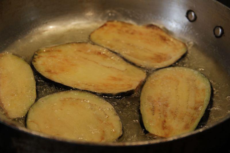 Frying basil
