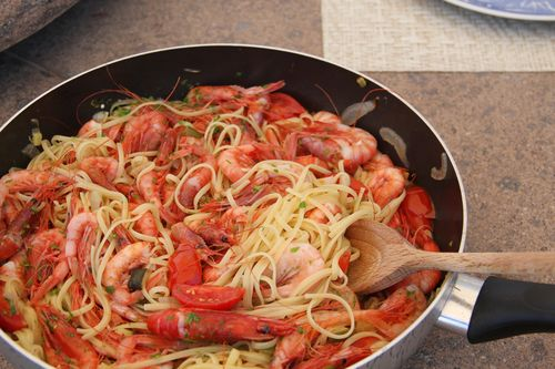 Red Shrimp Spaghetti