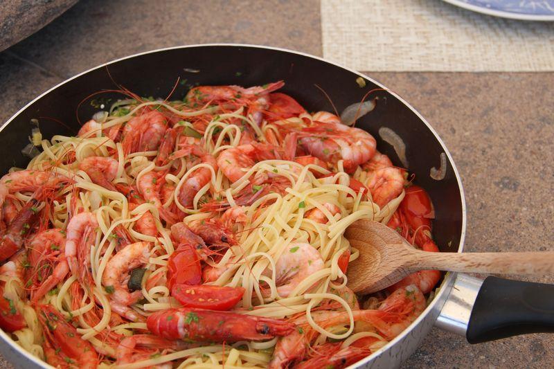 Red Shrimp Spaghetti