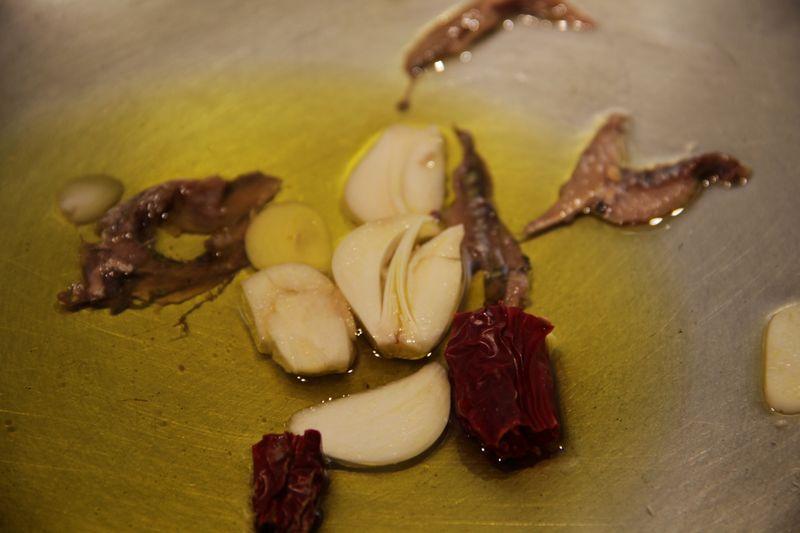 Garlic chili anchovy