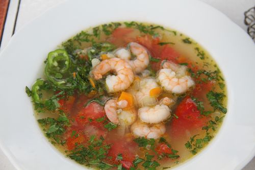 Shrimp soup bowl