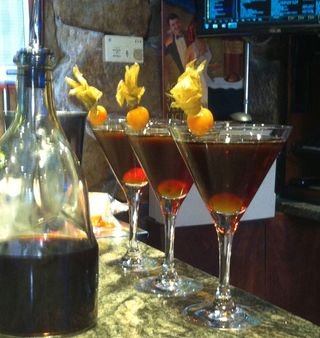 Txurrut vermouth cocktail